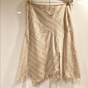 BCBGMaxAzria Asymmetrical Linen Skirt